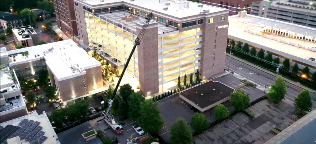 Medical Facility Timelapse and Drone Photography at Sunrise in Green Hills Mid-rise